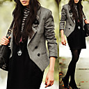 Lapel Double-breasted Wool Blazer Women's Blazers(0101BA009-0677)