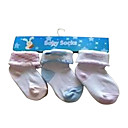 3-Pieces Baby Socks - Fits up 0-12 Months