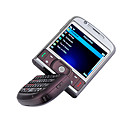 9700 Built In 2G Memory Quad Band Dual Card TV JAVA WIFi Trackball QWERTY Keypad 180 Degree Rotate Cell Phone Purple