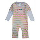 One Piece Colourful Stripe Baby Layette