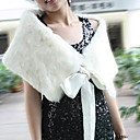 Sleeveless Genuine Rabbit Fur Satin Tape Cape Women's Fur Cape More Colors (0107AL011-0736)