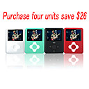 "1GB 1.8"" Fashion Design MP4/MP3 Player /4 Color/4 Pieces Per Package(SZM955)"