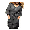 Wool Three-quarters Sleeves Round Neckline Women's Sweater Dresses(1001BB009-0739)