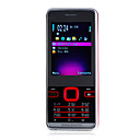 G900 + Dual-Quad-Band-Karte mit FM Bluetooth bar Handy Rot und Silber (2 GB TF-Karte) (sz00720727)