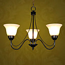 Fields and Garden Black 3-light Linear Chandelier(0810-2110-3B)