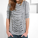 estilo griego, con mangas largas con capucha Women's T-shirts (8502bc005-0497)