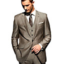 Single-Breasted 2 Button Side-Vented Notch Lapel Wool Groom Wear/ Tuxedo/ Men's Suit Jacket and Pants