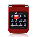 F1-Karte Dual Quad-Band Dual Screen QWERTY-Tastatur Immobilie bar Touchscreen Handy rot (2GB TF Karte) (sz05440599)