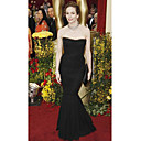 Diane Lane Trumpet/ Mermaid Sweetheart Floor-length Sleeveless Chiffon/ Elastic satin Classic Oscar Dress (FSF0698)