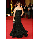 Jennifer Garner Trumpet/ Mermaid Strapless Sweep/ Brush Train Sleeveless Taffeta Classic Oscar Dress (FGY0704)