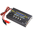 b6 7.4v 11.1v 14.8v 22.2v lipo rc carregador de bateria preta
