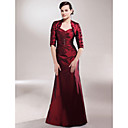 A-line Sweetheart Floor-length Taffeta Mother of the Bride Dress With A Wrap