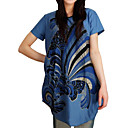 Medallion Ribbon Scoop Neck Short Sleeves Maternity Dress / Maternity Wear (FF-4202BE306-0736)