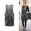 FASHION IDOLS Style / Loose Sleeveless Round Neckline Elastic Belt Dress / Women's Dresses (FF-1802BE033-0736)