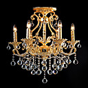 Antique Alloy Candle Crystal Swag 6-light Chandelier(0943-MX-6026+6)