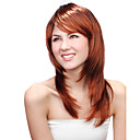 Capless Long Synthetic Auburn Straight Hair Wig