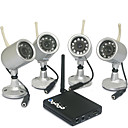 Baby Monitor-USB and TV Receiver 4 Cameras for Night Vision