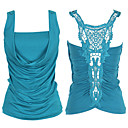 Lace Embroidery Draped Cowl Neck Gathered Back Vest / Women's Vests (FF-8503BF002-0736)
