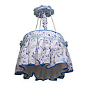 Idyllic Style Blue Floral Fabric Pendant(0925-C932B)