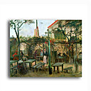 Stretched Canvas Handmade Pleasure Gardens at Montmartre,c.1886 Painting by Vincent Van Gogh  0192-YCF103190
