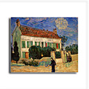 Stretched Canvas Handmade White House at Night Painting by Vincent Van Gogh  0192-YCF103225