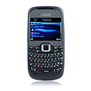 W200 Quad Band Dual Camera JAVA Metal Cover WCDMA(3G) QWERTY Keypad Cell Phone Black(2GB TF Card)(SZ04581472)