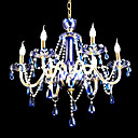 Candle 8-light Blue K9 Crystal Chandelier(0944-HH11005)