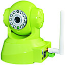 6 optionele draadloze kleuren mpeg4 pan-tilt internet ip camera / webcam met auto ir-led verlichting