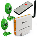 2.4GHz 4 Channel Remote Wireless Receiver with 2pcs 9LED Infrared CCTV wireless CMOS A/V camera