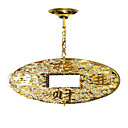 Electrophoresis Gold K9 Crystal 4-light Ceiling Light(0946-OL-488)