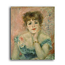 Stretched Handmade Portrait of Actress Jeanne Samary  Painting by Pierre-Auguste Renoir(0192-YCF103073)