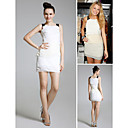 Blake Lively Sheath/ Column Scoop Short/ Mini Chiffon/ Elastic satin Gossip Girl Fashion/ Cocktail Dress (FSH0442)