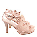 Top Quality Real Leather Upper High Heels Platform With Bowknot Special Occasion Shoe/ Fashion Shoe (0985-K654)