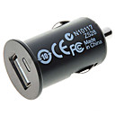 Car Cigarette Powered 5V-1A USB Adapter/Charger - Black (DC 12V)