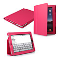 2-in-1 Protective Leather Carrying Case + Movie Stand for Apple 9.7&quot; iPad(Rose)