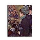 Stretched Handmade At the Theatre,la Premiere Sortie Painting by Pierre-Auguste Renoir (0192-YCF103056)