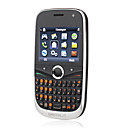 a9900 dual card quad band dual camera flash de luz java teclado qwerty de celular preto