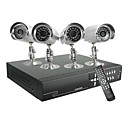 Security Camera DVR Kit with 4 Cameras and Surveillance Recorder