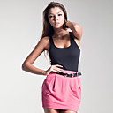 100% Cotton / Box Pleats Pencil Style Mini Skirt / Women's Skirts (FF-8201BE001-0497)