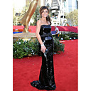 Trumpet/ Mermaid Strapless Court Trains Sequined Fabric Emmy/ Evening Dress (WSH04167)