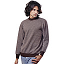 PURE CASHMERE / Diagonal Square Long Sleeves Round Neckline Pure Cashmere Sweater / Men's Cashmere Sweaters (FF-C-BI0736832)
