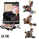 damas de premire qualit fabriqus  la main tatouage 3 machines kit avec alimentation suprieure conduit (ly169)