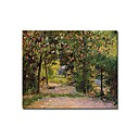 Stretched Handmade The Garden in Spring,Eragny Painting by Camille Pissarro (0192-YCF103934)