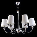 6-light Bright Chrome  Chandelier With Fabric Lamp Shade (1069-J9814-D6)