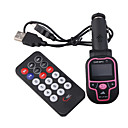 lcd auto mp3/mp4-speler fm transmitter met ir afstandsbediening-2G roze