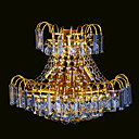 3-light K9 Crystal Gold Color Bright Chrome Wall Sconce (1069-J9868-B3)