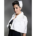 Sleeveless Faux Fur Wedding Bridal Shawl / Wrap