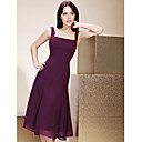 A-line Square Knee-length Chiffon Bridesmaid/ Wedding Party Dress