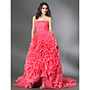 Organza Satin Ball Gown Strapless Court Train Evening Dress Dress inspired by Blair in Gossip Girl  (FSH02285)