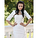 Half Sleeves Taffeta Bridal Jacket/ Wedding Wrap